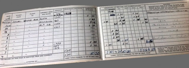 training logbook February and March 1942
