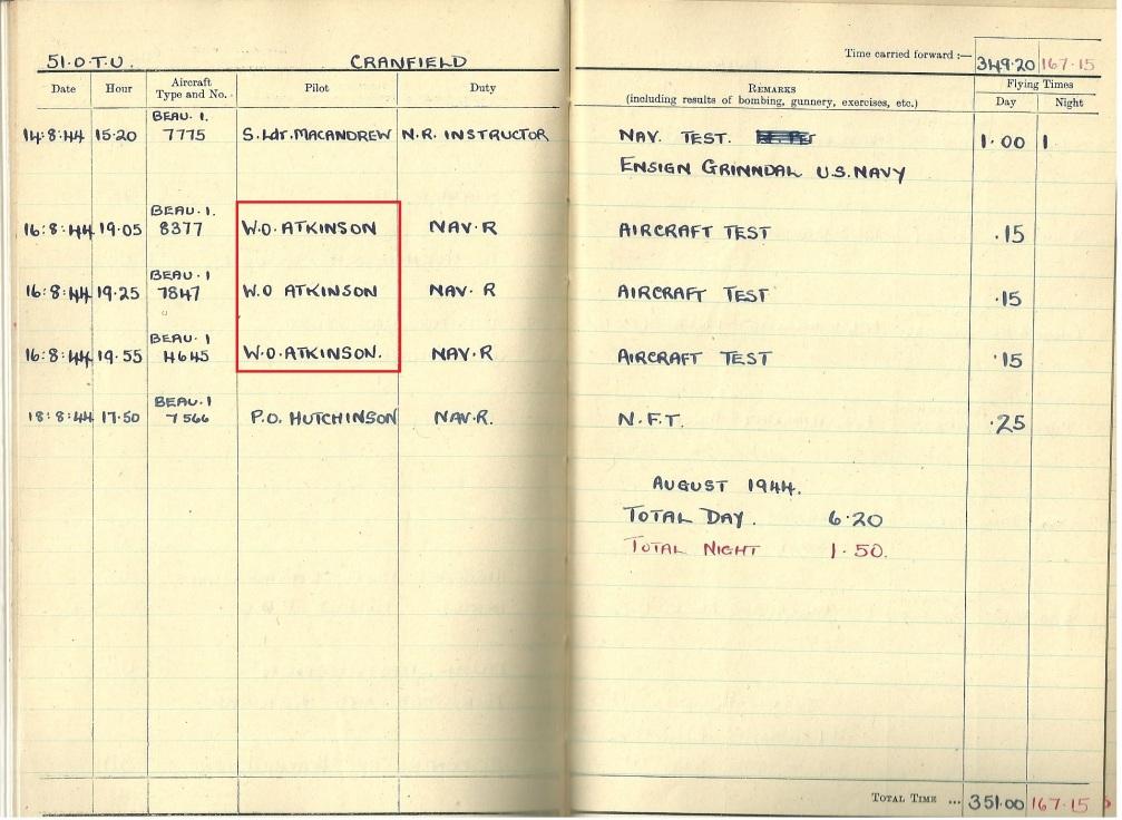 51 OTU August 1944 Atkinson