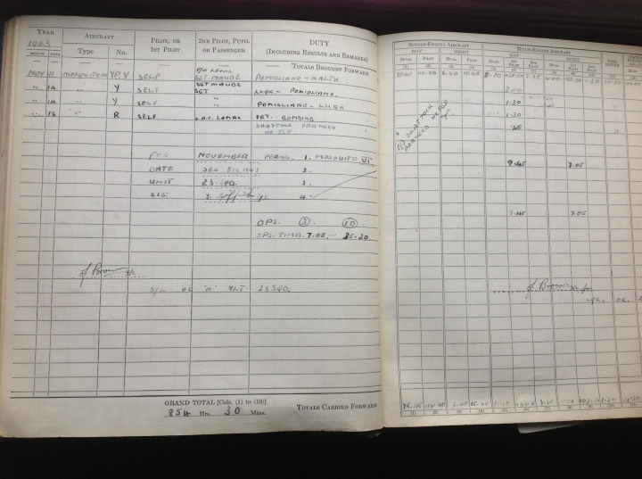 logbook november 1943-1